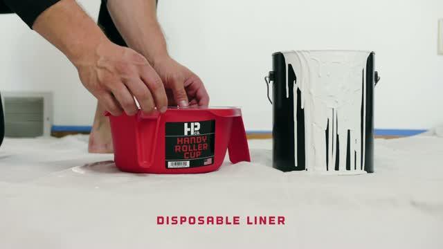 HANDy  Roller Cup  Clear  1 pt Plastic  Paint Pail Liner